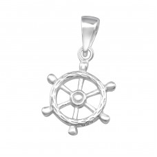 Ship's Wheel - 925 Sterling Silver Basic Pendants A4S36747