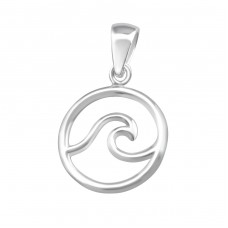 Wave - 925 Sterling Silver Basic Pendants A4S36748