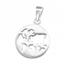 Earth - 925 Sterling Silver Basic Pendants A4S36750