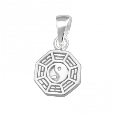 Yin-Yang - 925 Sterling Silver Basic Pendants A4S36751