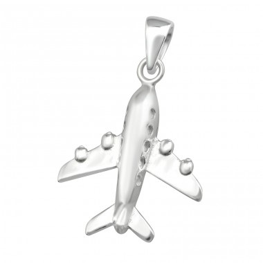 Plane - 925 Sterling Silver Basic Pendants A4S36754