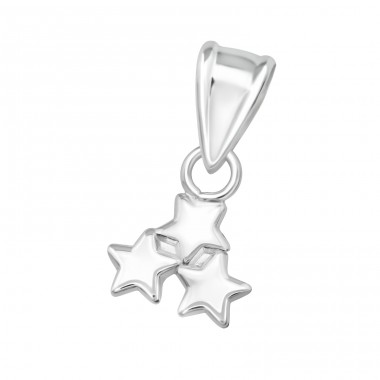 Triple Star - 925 Sterling Silver Basic Pendants A4S36916