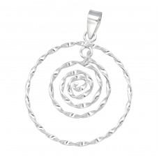 Spiral - 925 Sterling Silver Basic Pendants A4S39125