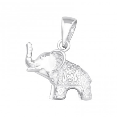 Elephant - 925 Sterling Silver Basic Pendants A4S39465