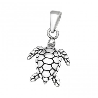 Turtle - 925 Sterling Silver Basic Pendants A4S39986