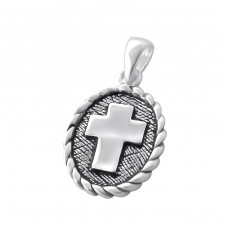 Ancient Cross - 925 Sterling Silver Basic Pendants A4S6955