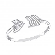 Arrow - 925 Sterling Silver Rings with Zirconia stones A4S15064