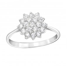Sparkling Flower - 925 Sterling Silver Rings with Zirconia stones A4S15453