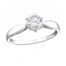 Round - 925 Sterling Silver Rings with Zirconia stones A4S15458