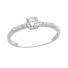 Sprinkled - 925 Sterling Silver Rings with Zirconia stones A4S18771