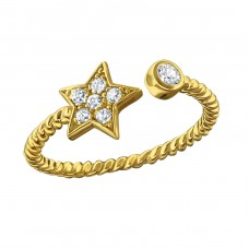 Star - 925 Sterling Silver Rings with Zirconia stones A4S18772