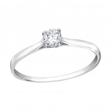 Round - 925 Sterling Silver Rings with Zirconia stones A4S19423