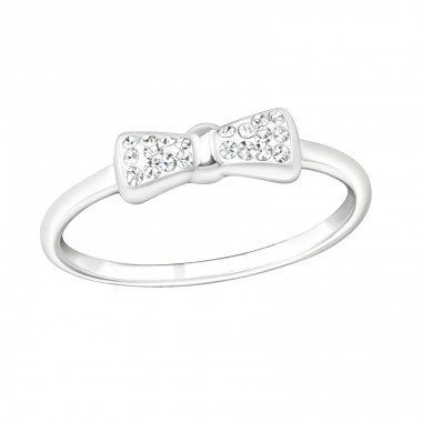 Tie Bow - 925 Sterling Silver Rings with Zirconia stones A4S19426