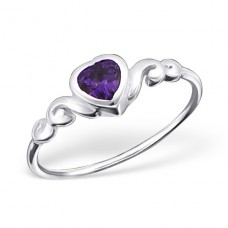 Heart - 925 Sterling Silver Rings with Zirconia stones A4S20657
