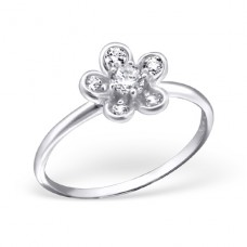 Flower - 925 Sterling Silver Rings with Zirconia stones A4S21692