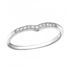 Heart - 925 Sterling Silver Rings with Zirconia stones A4S21693