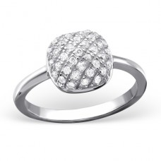 Square - 925 Sterling Silver Rings with Zirconia stones A4S22836