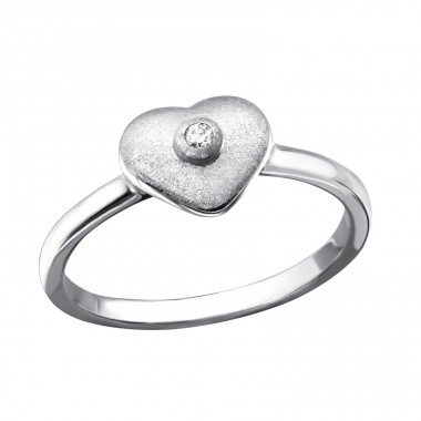 Heart - 925 Sterling Silver Rings with Zirconia stones A4S22855