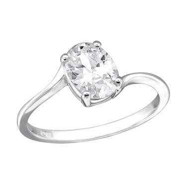 Oval - 925 Sterling Silver Rings with Zirconia stones A4S27269