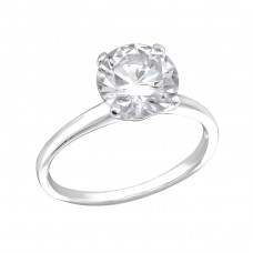 Round - 925 Sterling Silver Rings with Zirconia stones A4S27270