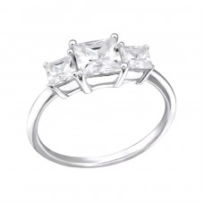 Squares - 925 Sterling Silver Rings with Zirconia stones A4S27275