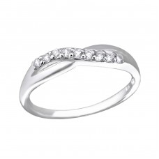 Infinity - 925 Sterling Silver Rings with Zirconia stones A4S27277