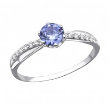 Round - 925 Sterling Silver Rings With Zirconia Stones A4S27937