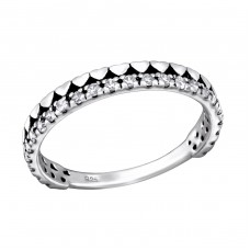 Hearts - 925 Sterling Silver Rings with Zirconia stones A4S28177