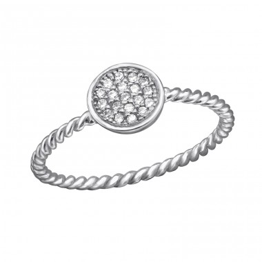 Round - 925 Sterling Silver Rings with Zirconia stones A4S29223