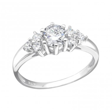 Cluster - 925 Sterling Silver Rings with Zirconia stones A4S29230
