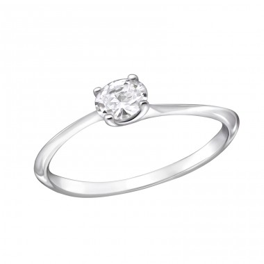 Oval - 925 Sterling Silver Rings with Zirconia stones A4S29234