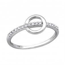 Circle - 925 Sterling Silver Rings with Zirconia stones A4S29445