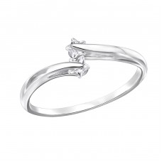 Open - 925 Sterling Silver Rings with Zirconia stones A4S29446