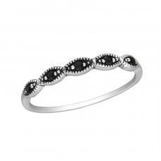 Stackable - 925 Sterling Silver Rings with Zirconia stones A4S30149