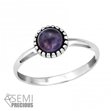 Round - 925 Sterling Silver Rings with Zirconia stones A4S30312