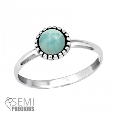 Round - 925 Sterling Silver Rings with Zirconia stones A4S30313
