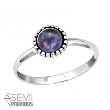 Round - 925 Sterling Silver Rings with Zirconia stones A4S30314