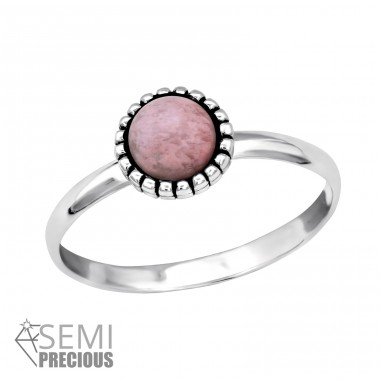 Round - 925 Sterling Silver Rings with Zirconia stones A4S30315