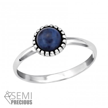 Round - 925 Sterling Silver Rings with Zirconia stones A4S30316
