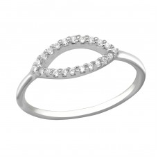 Oval - 925 Sterling Silver Rings with Zirconia stones A4S30351