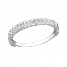 Eternity - 925 Sterling Silver Rings with Zirconia stones A4S30504