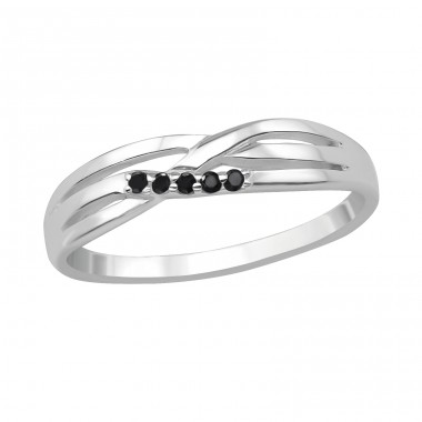 Intertwining - 925 Sterling Silver Rings with Zirconia stones A4S30525