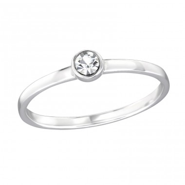 One Stone - 925 Sterling Silver Rings with Zirconia stones A4S30537