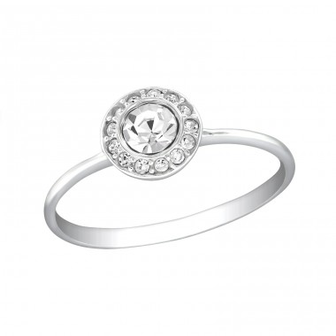 Cluster - 925 Sterling Silver Rings with Zirconia stones A4S30625