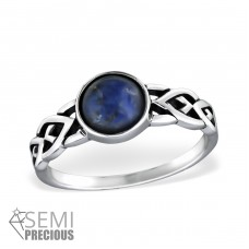 Braided - 925 Sterling Silver Rings with Zirconia stones A4S30668
