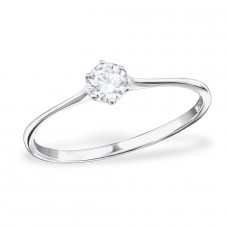 Solitaire - 925 Sterling Silver Rings with Zirconia stones A4S31085