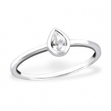 Pear - 925 Sterling Silver Rings with Zirconia stones A4S31154