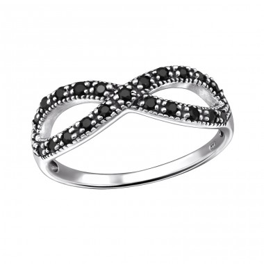 Infinity - 925 Sterling Silver Rings with Zirconia stones A4S31584