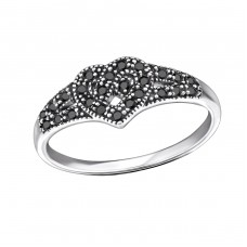 Celtic Heart - 925 Sterling Silver Rings with Zirconia stones A4S31587