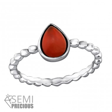 Teardrop - 925 Sterling Silver Rings with Zirconia stones A4S31790